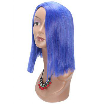 Medium Side Parting Straight Cosplay Party Synthetic Wig - BLUE LOTUS