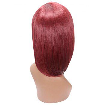 Medium Side Parting Straight Bob Party Cosplay Synthetic Wig - RED
