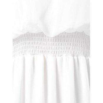High Waist Bare Shoulder Long Dress - WHITE L