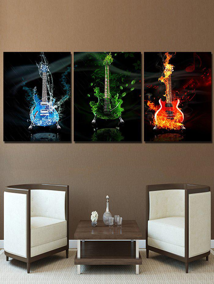 Guitars Print Split Wall Art Canvas Paintings - multicolor 3PCS:20*29.5 INCH( NO FRAME )