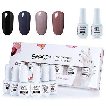 Ensemble de Vernis à Ongles Gel à Tremper Elite99 UV LED 4 Couleurs Profondes -
