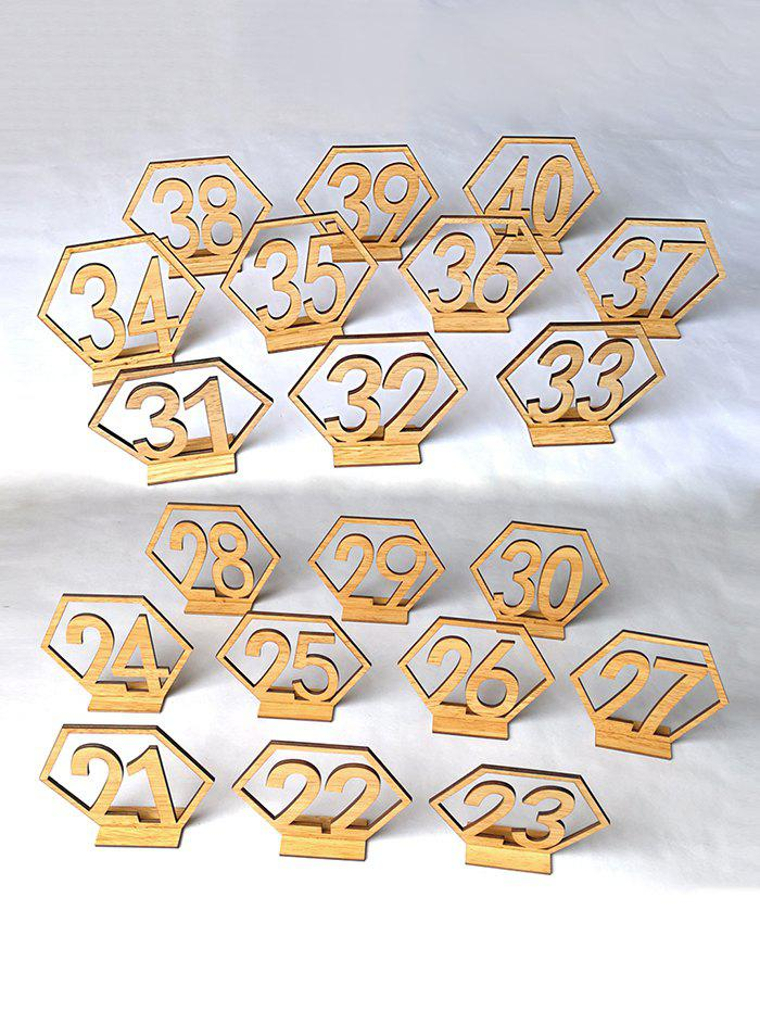 Number 21 to 40 Sign Wooden Wedding Decor Set - SCHOOL BUS YELLOW