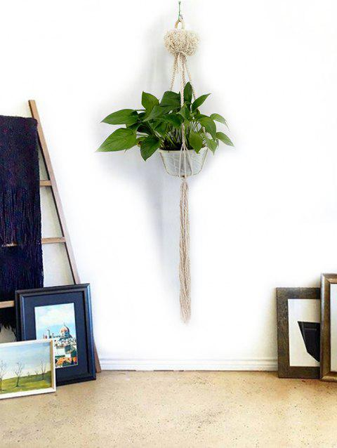 Handmade Macrame Plant Hanger Pot Holder - WARM WHITE 108*10CM