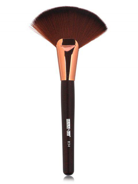 Cosmetic Ultra Soft Fiber Hair Fan Shaped Blush Brush - CHESTNUT RED