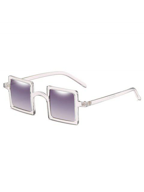 Anti Fatigue Squared Lens Novelty Sunglasses - VAMPIRE GRAY