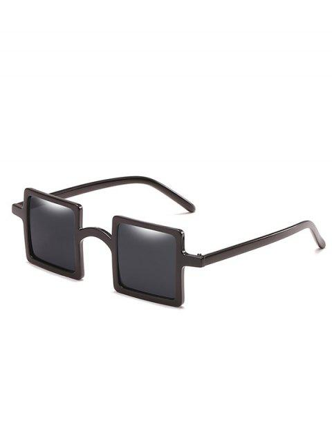 Anti Fatigue Squared Lens Novelty Sunglasses - BLACK