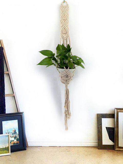 Handmade Macrame Plant Hanger Braided Craft - WARM WHITE 128*10CM