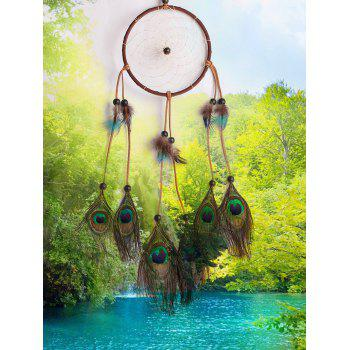 Feathers Handmade Dream Catcher Wall Hanging Decor - multicolor 13*55CM