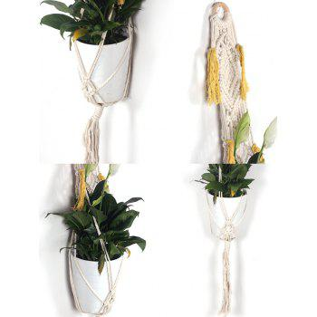Macrame Plant Hanger Hand-knitted Craft - WARM WHITE 102*10CM