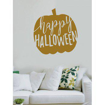 Happy Halloween Print Wall Art Sticker - GOLD