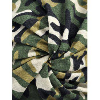 Lightweight Camouflage Pattern Open Top Beanie - ARMY GREEN