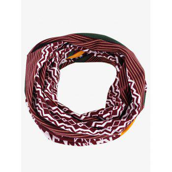 Outdoor Irregular Wave Striped Pattern Baggy Beanie - RED WINE