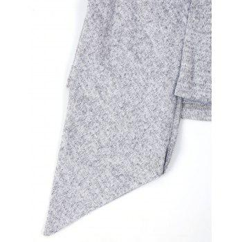 Long Sleeve Faux Two Piece T-shirt - LIGHT GRAY 2XL