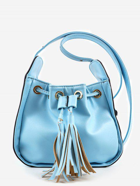 Tassels String Leisure Minimalist Crossbody Bag - BLUE