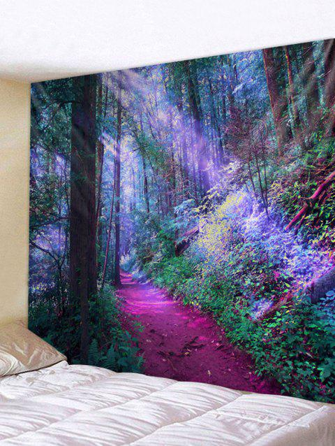 Unique Forest Printed Tapestry Wall Art Decoration - multicolor W91 INCH * L71 INCH