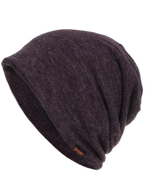 Lightweight Sport Label Open Top Slouchy Beanie - PURPLE HAZE