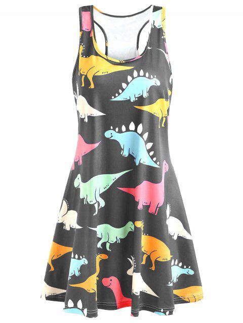 Plus Size Dinosaur Swing Dress - GRAY 3X