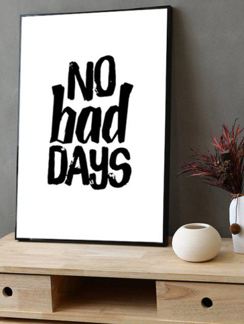 No Bad Days Print Framed Canvas Painting - BLACK 14*20 INCH
