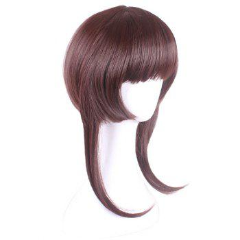 Full Bang Short Straight Game Characters Cosplay Synthetic Wig - ROSY FINCH