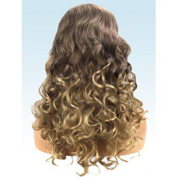 Long Capless Ombre Curly Synthetic Wig - multicolor