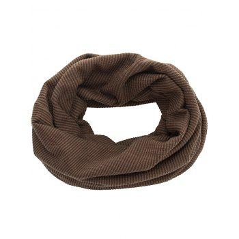 Vertical Striped Pattern Baggy Beanie - COFFEE
