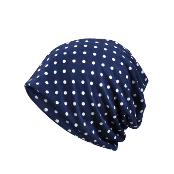 Outdoor Polka Dots Pattern Slouchy Beanie - ROYAL BLUE