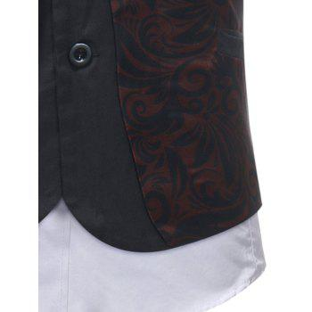Slim Fit Adjustable Buckle Vest - RED WINE XS