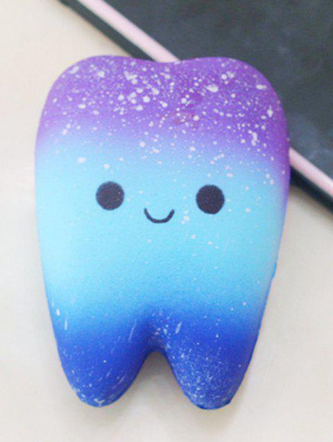 Cartoon Tooth Slow Rising PU Squishy Toy - BLUE