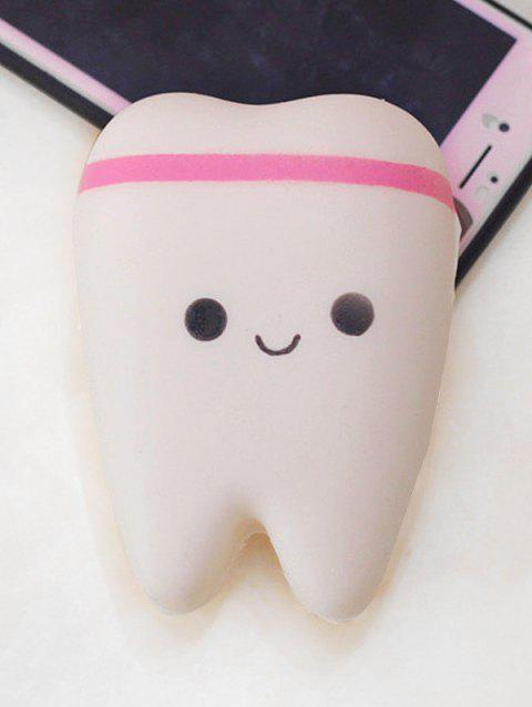 Cartoon Tooth Slow Rising PU Squishy Toy - WHITE
