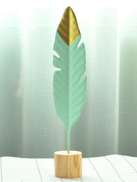 Creative Iron Metal Feather Desktop Craft - PALE BLUE LILY 29X5.5X4CM