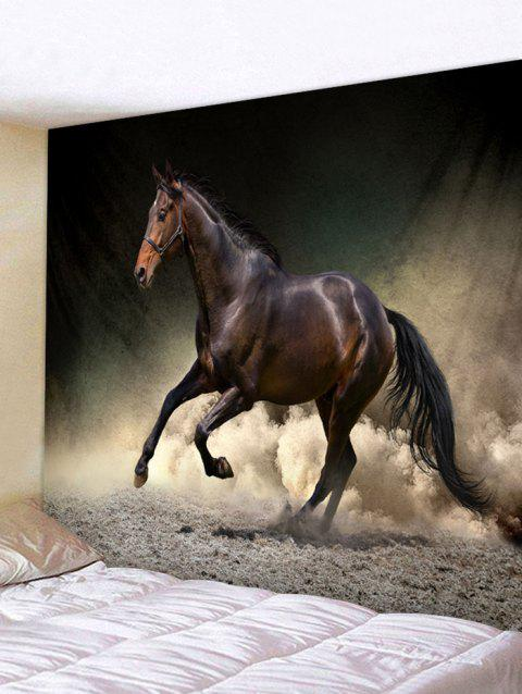 2019 Running Horse Print Tapestry Wall Art In Multicolor W79 Inch