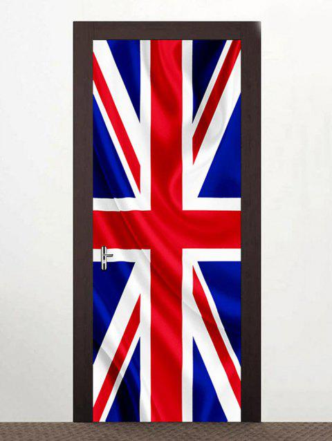 Autocollants Décoration de Porte Motif Drapeau Britannique - multicolor 38.5*200CM*2PCS