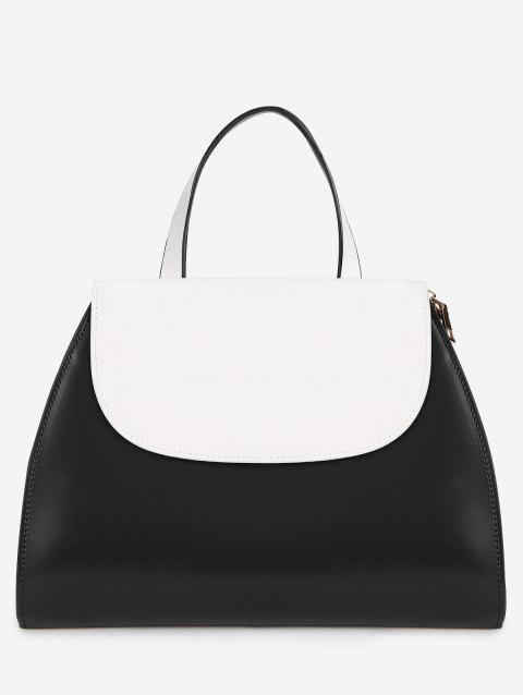 Flap Minimaliste Color Block Chic Sac à main - Noir