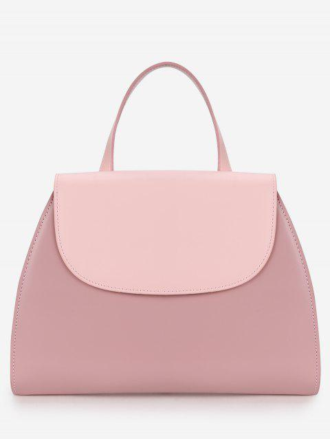 Flap Minimalist Color Block Chic Handbag - LIGHT PINK