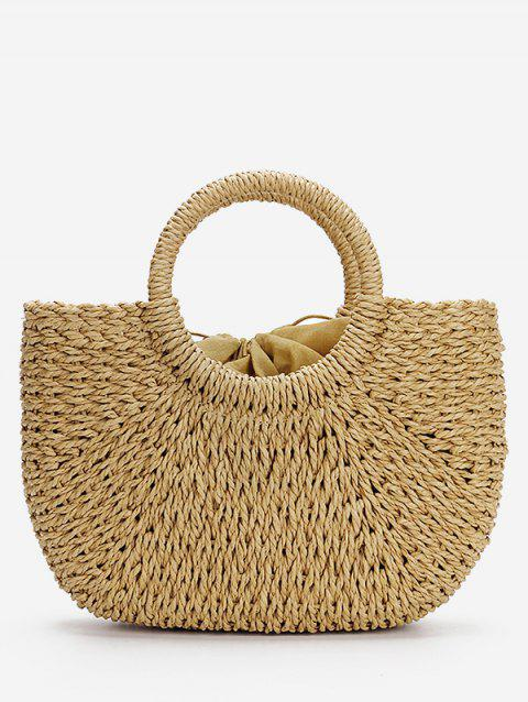 Straw Leisure Holiday StringTote Bag - LIGHT KHAKI