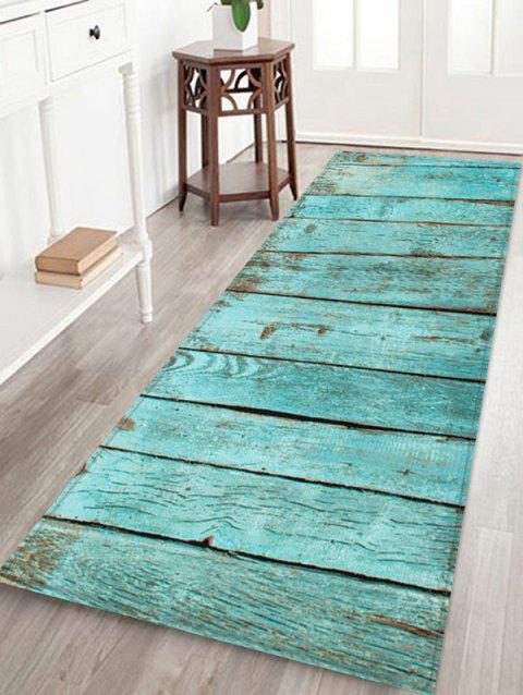 Wooden Printed Water Absorption Rug - NORTHERN LIGHTS BLUE W24 INCH * L71 INCH