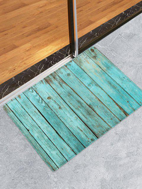 Wooden Printed Water Absorption Rug - NORTHERN LIGHTS BLUE W16 INCH * L24 INCH