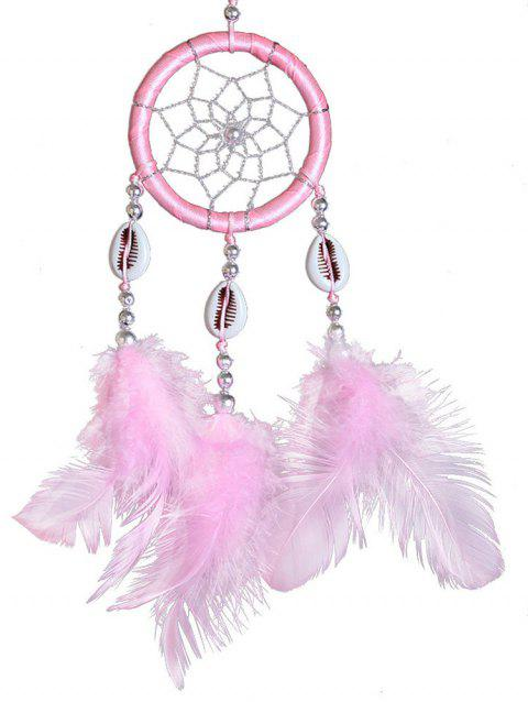 Shells Feathers Handmade Dream Catcher - BLOSSOM PINK 30*6CM