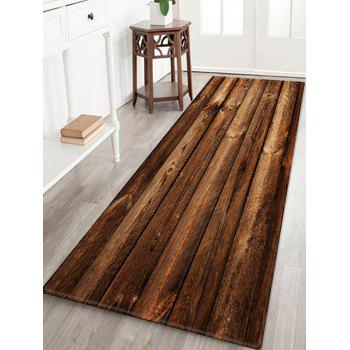 Wooden Print Water Absorption Area Rug