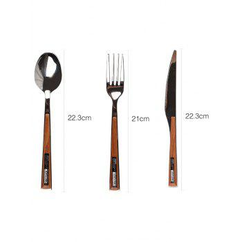 3 Pcs Stainless Steel Knife Fork Spoon - SILVER PACK OF 3