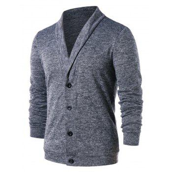 Button Up Turn Down Collar Cardigan