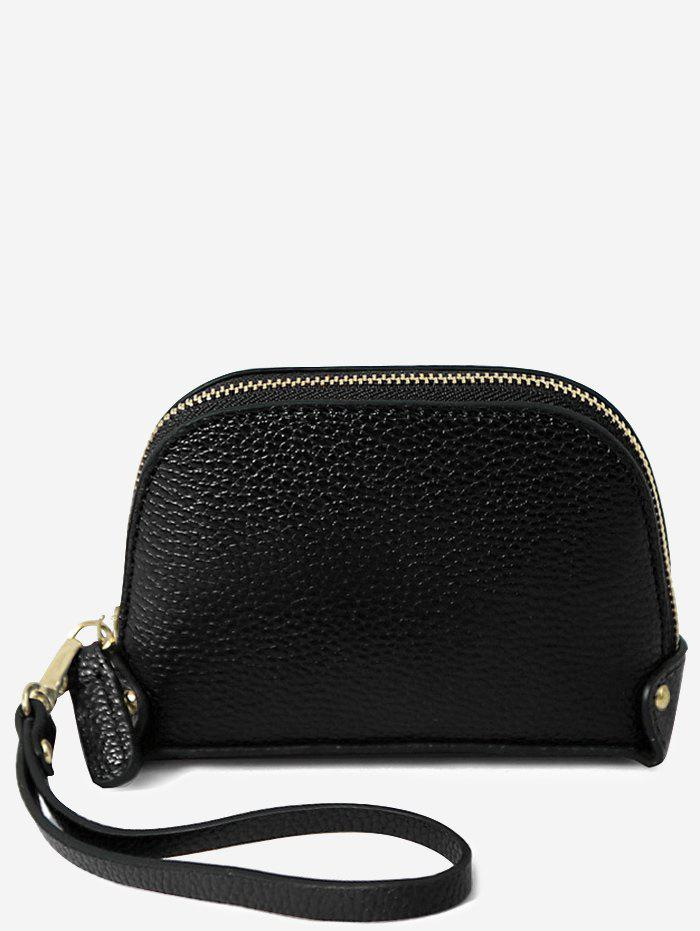 Practical Daily Shopping Clutch Bag for Coins - BLACK
