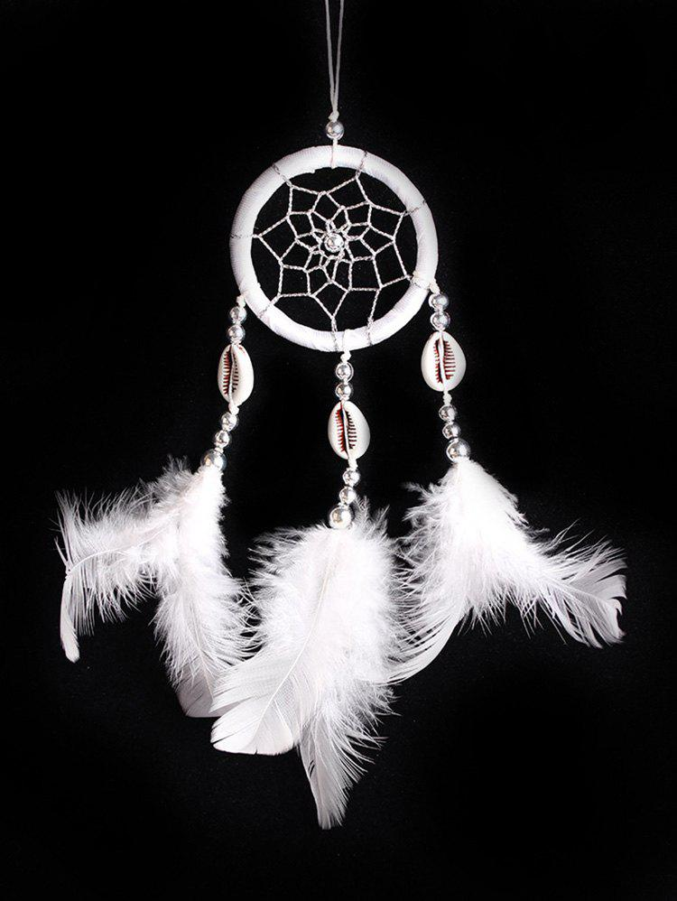 Shells Feathers Handmade Dream Catcher - WHITE 30*6CM