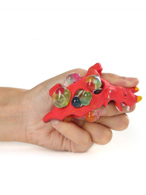 Dinosaur Mesh Squishy Ball Toy - FIRE ENGINE RED