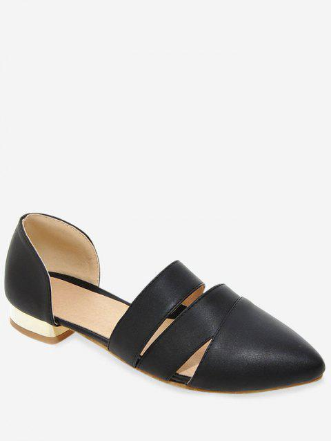 Plus Size Pointed Toe Casual Working Pumps - BLACK 38