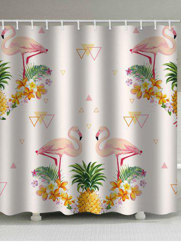 pineapple flamingo print waterproof shower curtain - Dresslily Shower Curtains