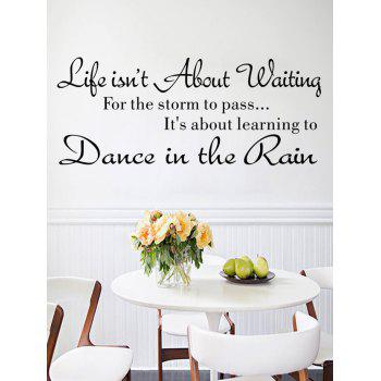 Life Quote Print Wall Art Stickers - BLACK