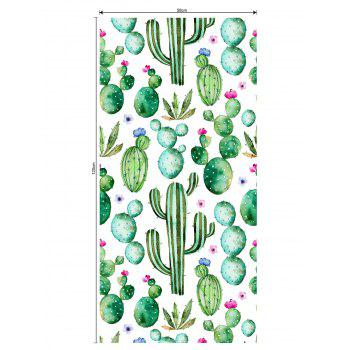 Succulents Print Translucent Frosted Glass Sticker - multicolor 47*23 INCH