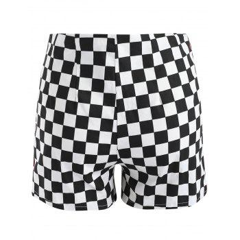 Short à carreaux à double rayure - multicolor XL