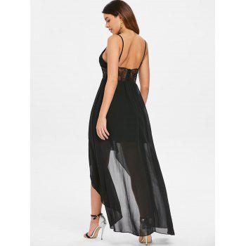 Open Back Spaghetti Strap Maxi Dress - BLACK 2XL